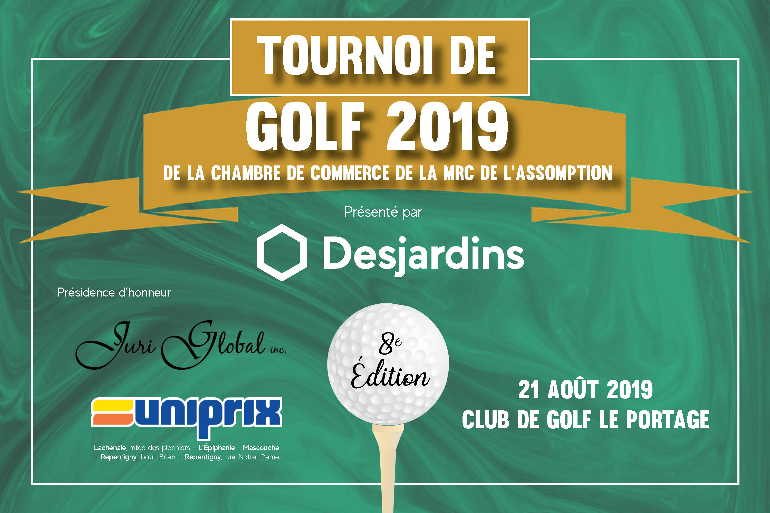 Photo Tournoi de golf - 21 août 2019