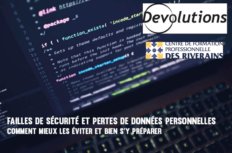 Photo Conférence Failles de sécurité et pertes de données personnelles - 28 mai 2019