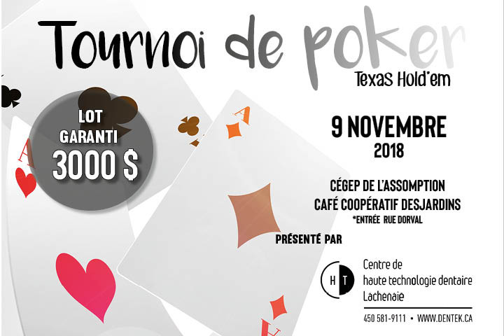 Photo Tournoi Poker 9 novembre 2018