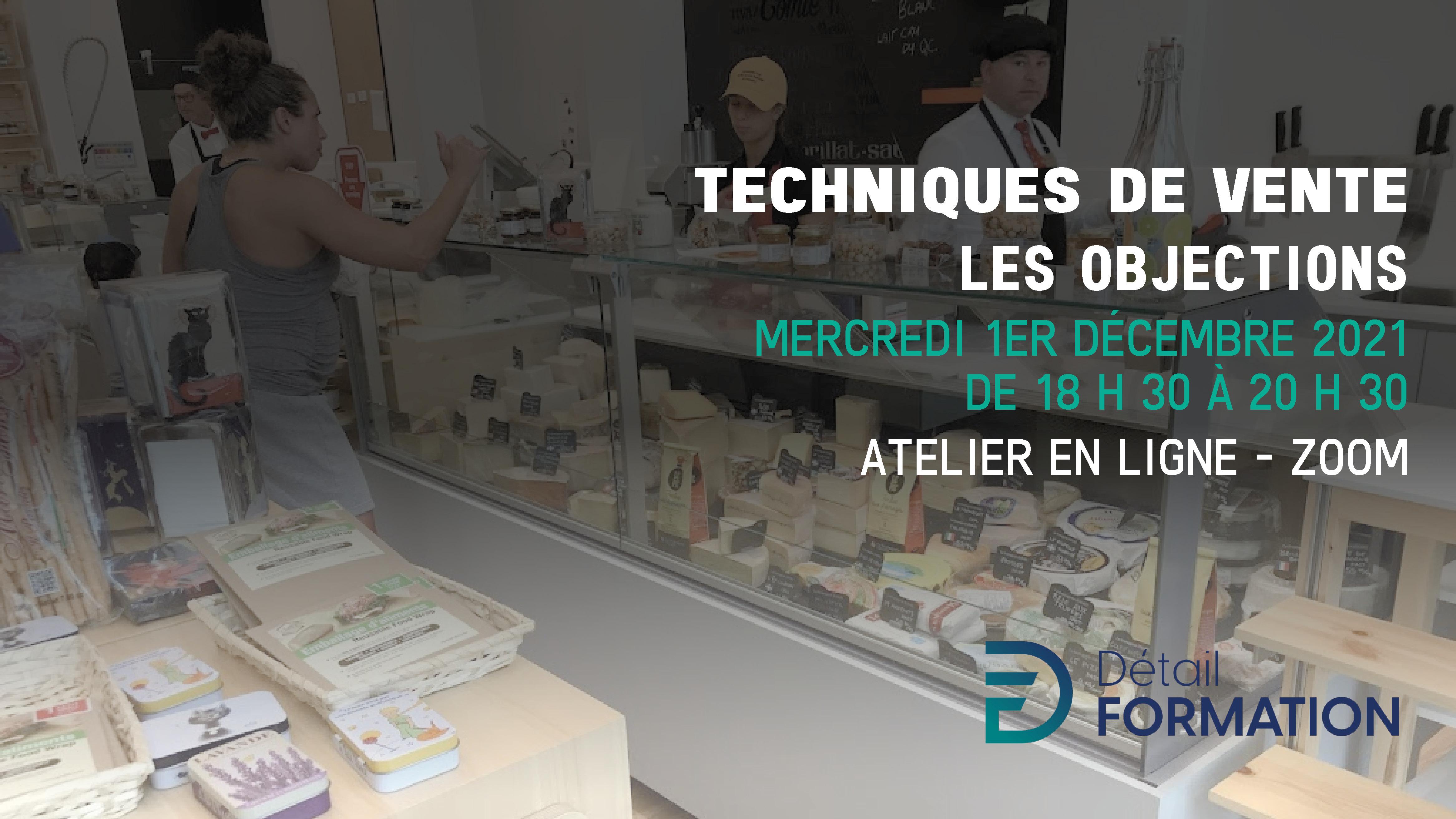Photo Atelier DF - Techniques de vente - Les objections